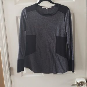Black and Gray Rachel Roy Color Block top size L